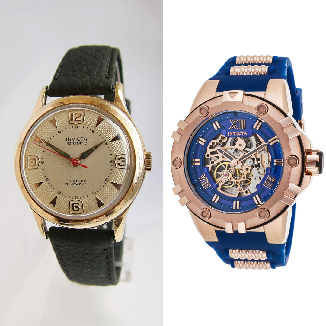 A Vintage and A Modern Invicta Watch Side-by-Side